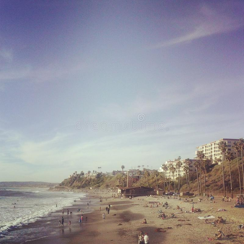 Del Mar Beach photographie stock