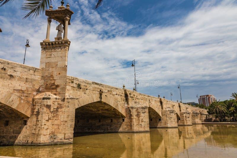 Del Mar Bridge su Turia a Valencia, Spagna fotografia stock