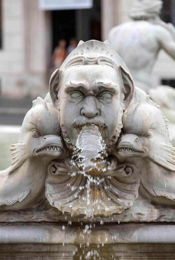 Del Moro Moor Fountain de Fontana en la plaza Navona roma imagenes de archivo