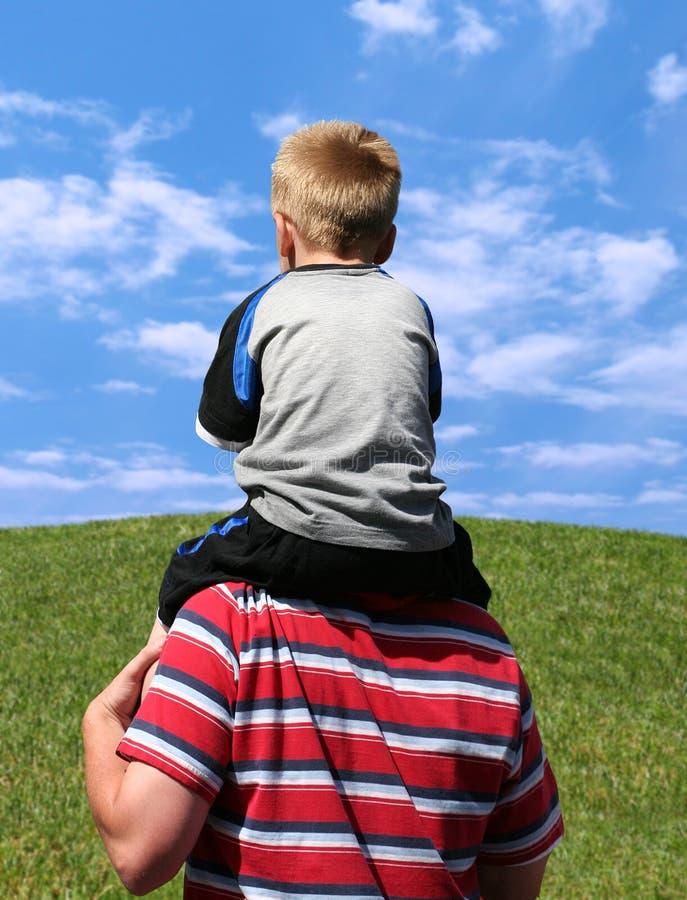Del muchacho parte posterior encendido foto de archivo libre de regalías