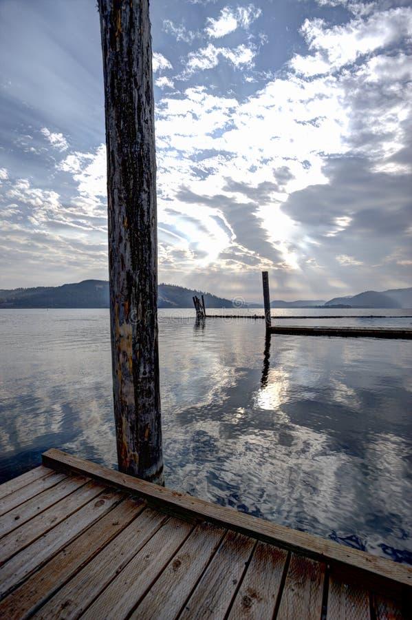 Del muelle del lago Chatcolet imagen de archivo libre de regalías
