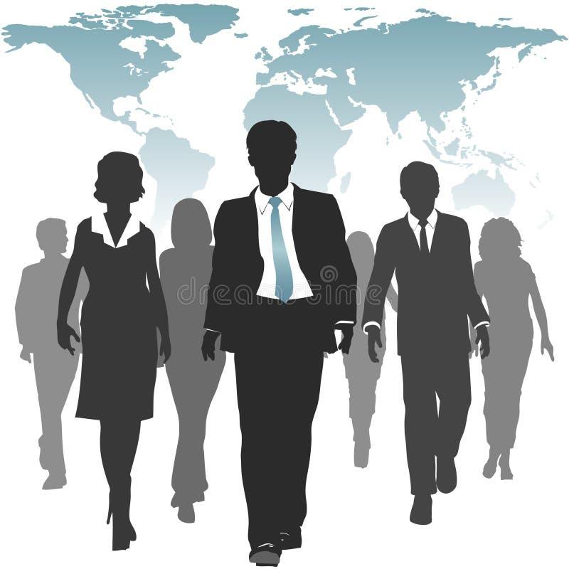 Del mundo de trabajo de los recursos humanos de la fuerza hombres de negocios stock de ilustración