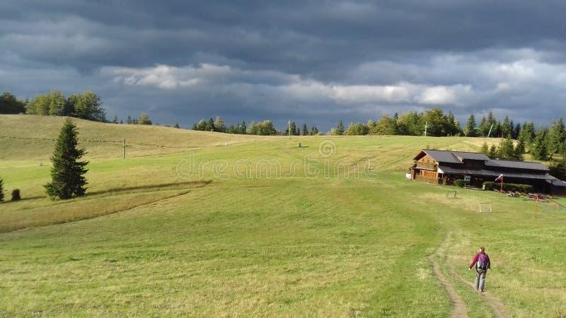 ` del Na Grúni del ` della capanna, ¡ di TerchovÃ, poco Fatra, Slovacchia fotografia stock