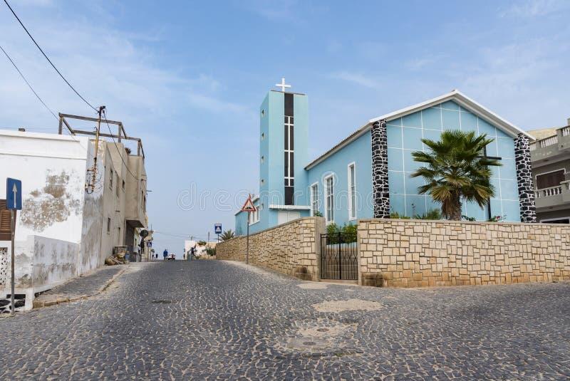 Del Nazareno Sal Rei Cape Verde de la iglesia imagen de archivo
