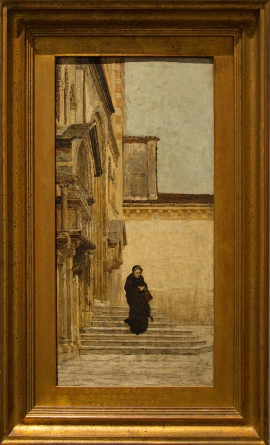 ` 1883 del nonna del La del ` por el ` Oca Bianca del dell de Angello imágenes de archivo libres de regalías