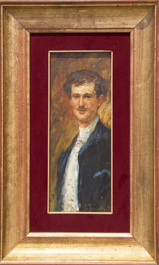 ` 1887 del Oca Bianca del ` de Angelo Dall de los di de Ritratto del ` de Giacomo Favretto fotos de archivo