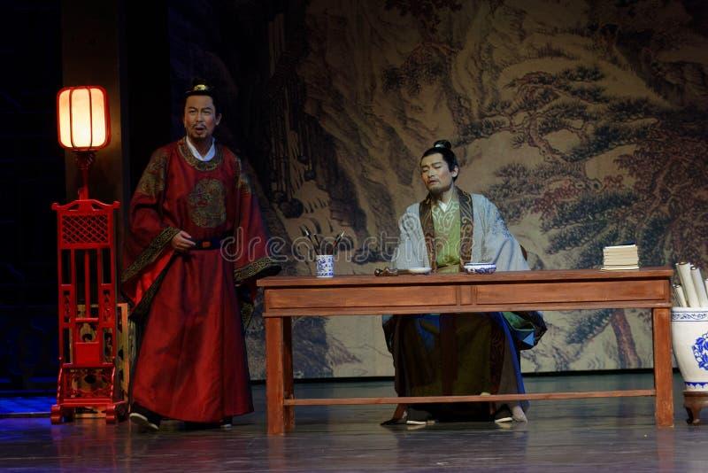 Del opositor- un acto anterior en segundo lugar: la noche del drama histórico ejército-grande, ` Yangming ` de tres noches imagen de archivo libre de regalías