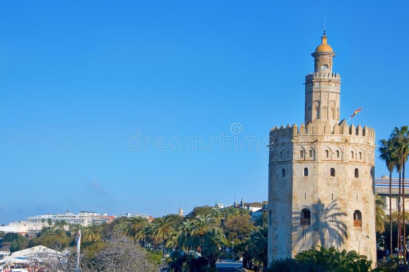 del oro塞维利亚西班牙torre 免版税库存照片