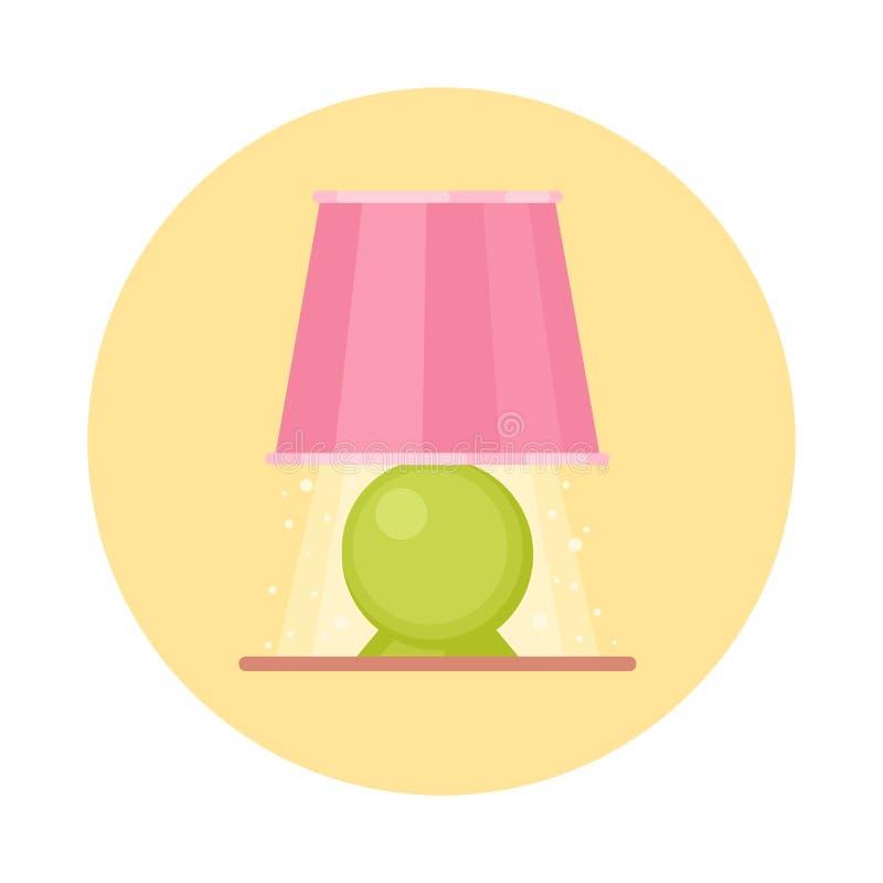 Del piano icona sveglia della luce vicino, lampada del fumetto isolata su backgr bianco royalty illustrazione gratis