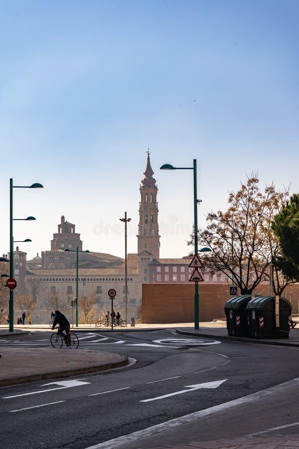 Del Pilar Cathedral de Basilica de Nuestra Señora en Zaragoza, España foto de archivo