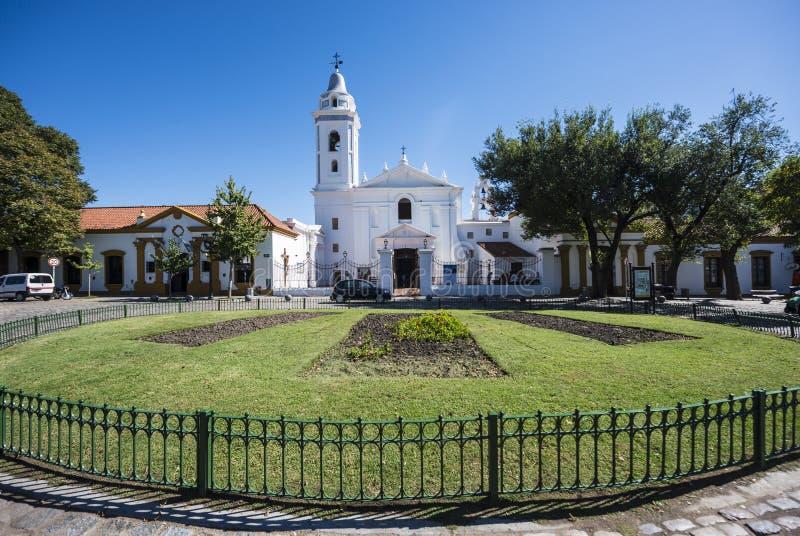 Del Pilar-kerk in Buenos aires, Argentinië stock afbeelding