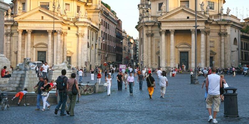 del popolo Ρώμη πλατειών της Ιταλία&sigm στοκ φωτογραφία