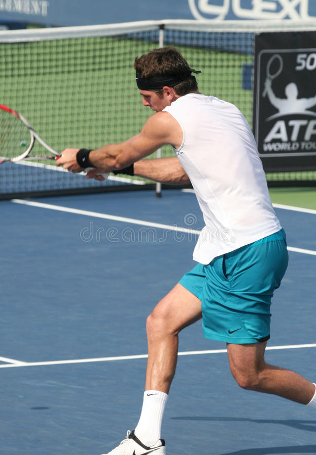 Del Potro: Tennis Player Backhand stock photo