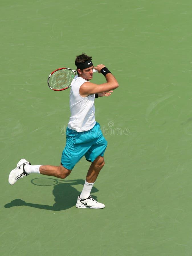 Del Potro: Tennis-Spieler-Vorhand stockbilder