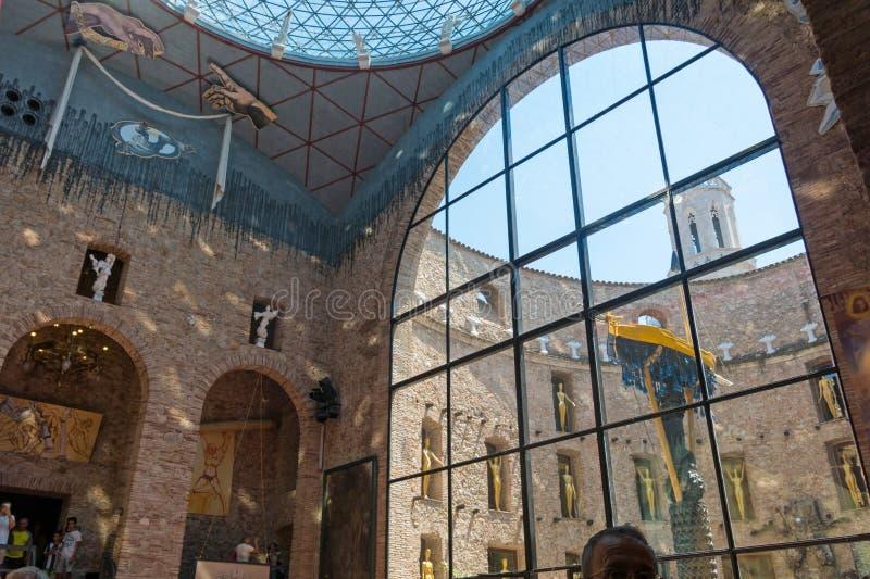 Del principal Dali Theatre de Hall et musée à Figueres, Espagne images libres de droits