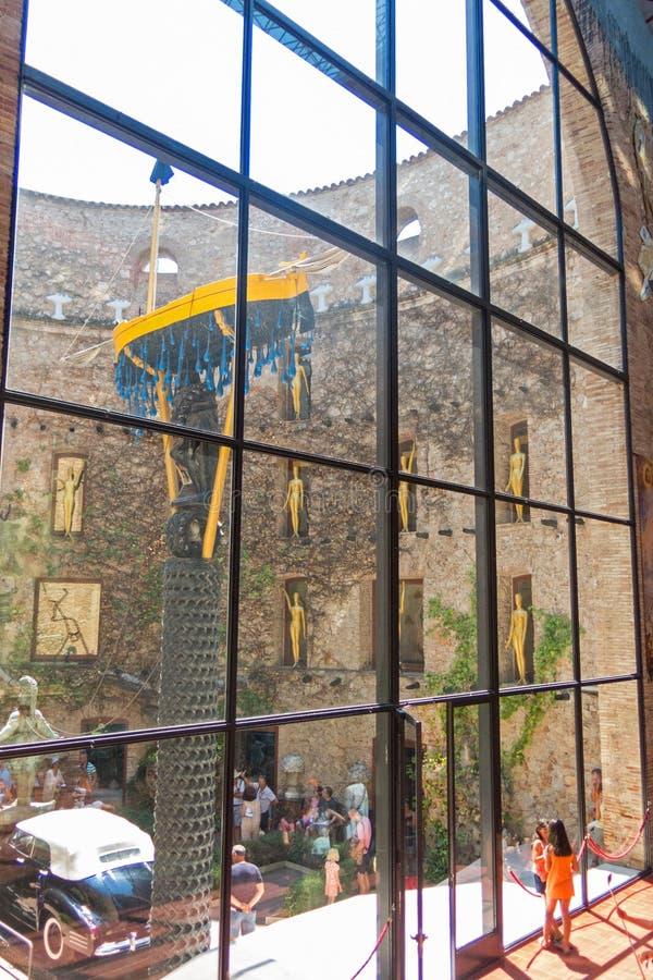Del principal Dali Theatre de Hall et musée à Figueres, Espagne photo stock
