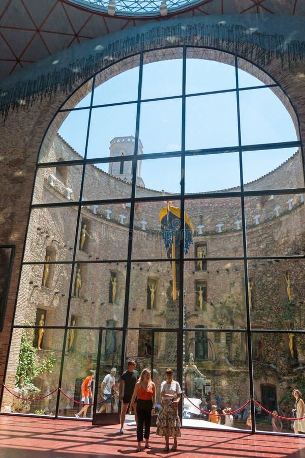 Del principale Dali Theatre di Corridoio e museo a Figueres, Spagna fotografia stock