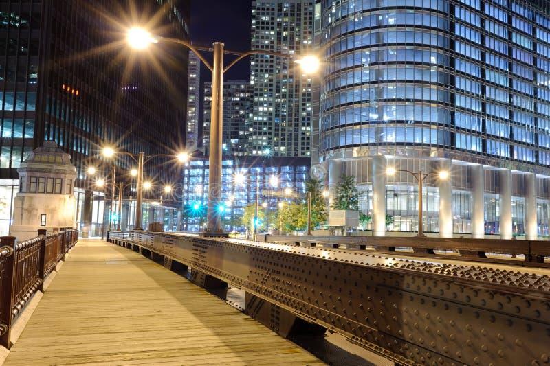 Del puente centro de la ciudad adentro de Chicago fotografía de archivo libre de regalías