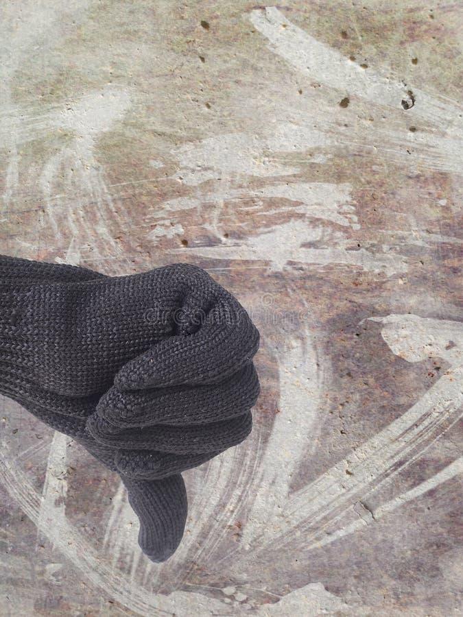 Del pulgar muestra del finger abajo fotografía de archivo