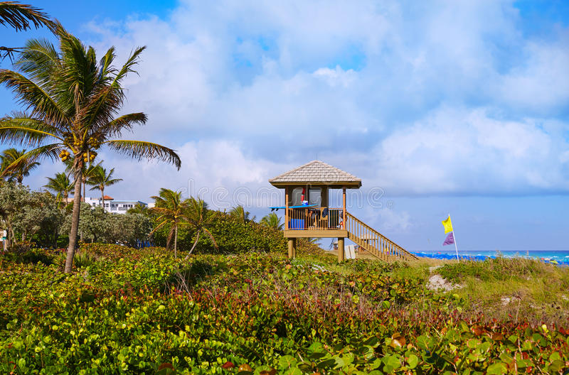 Del Ray Delray beach Florida USA. Del Ray Delray beach in Florida USA baywatch tower stock photo