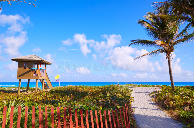 Del Ray Delray beach Florida USA. Del Ray Delray beach in Florida USA baywatch tower stock images