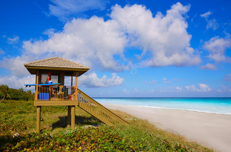 Del Ray Delray beach Florida USA. Del Ray Delray beach in Florida USA baywatch tower royalty free stock image