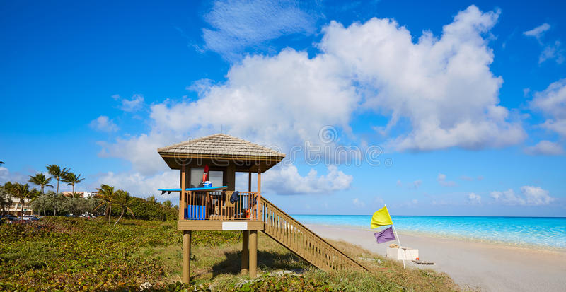 Del Ray Delray beach Florida USA. Del Ray Delray beach in Florida USA baywatch tower royalty free stock images