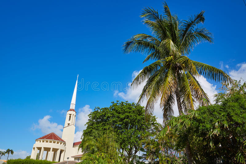 Del Ray Delray beach Florida USA. Del Ray Delray beach in Florida USA Palm trees street stock photos