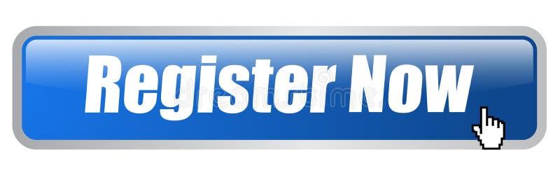 Del registro bottone di web ora illustrazione di stock