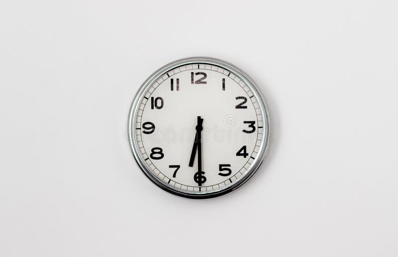 6:30 del reloj foto de archivo libre de regalías