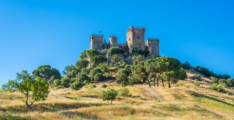 Del Rio Castle d'Almodovar, dans la province de Cordoue, l'Andalousie, Espagne images libres de droits