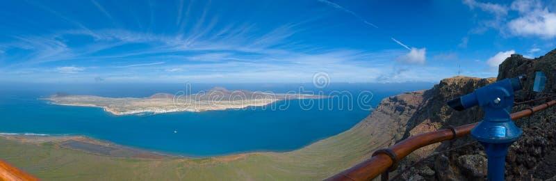 Del Rio de Mirador, Lanzarote fotografia de stock