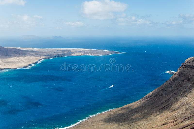 Del Rio - La graciosa Insel Lanzarote Mirador lizenzfreies stockfoto