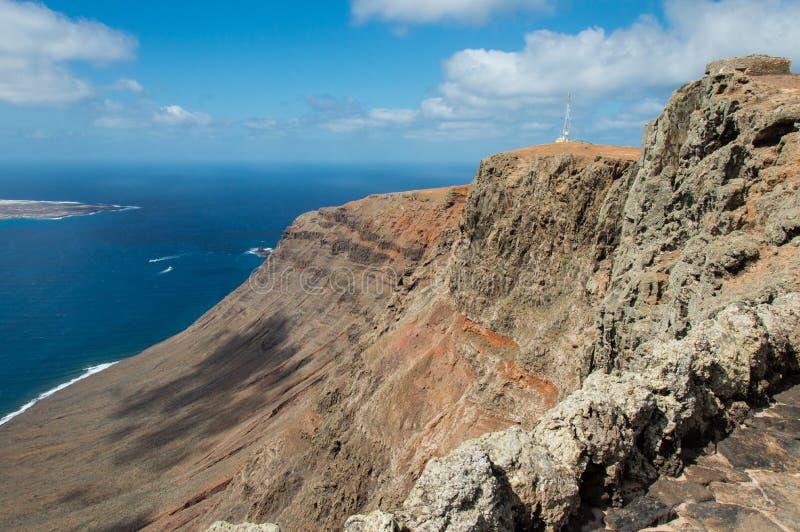 Del Rio - La graciosa Insel Lanzarote Mirador stockfotografie