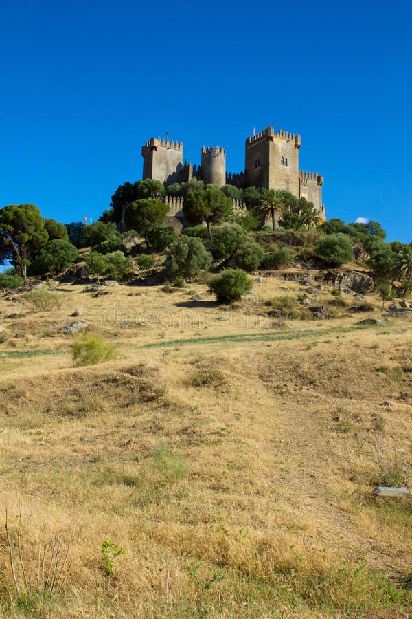 Del Rio na cume, Córdova de Almodovar, Spain foto de stock royalty free