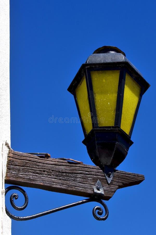 del Sacramento Uruguai di colonia della lampada di via immagini stock
