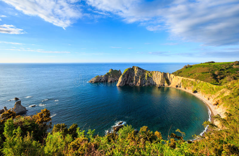 Del Silencio beach (Asturias, Spain). royalty free stock photo