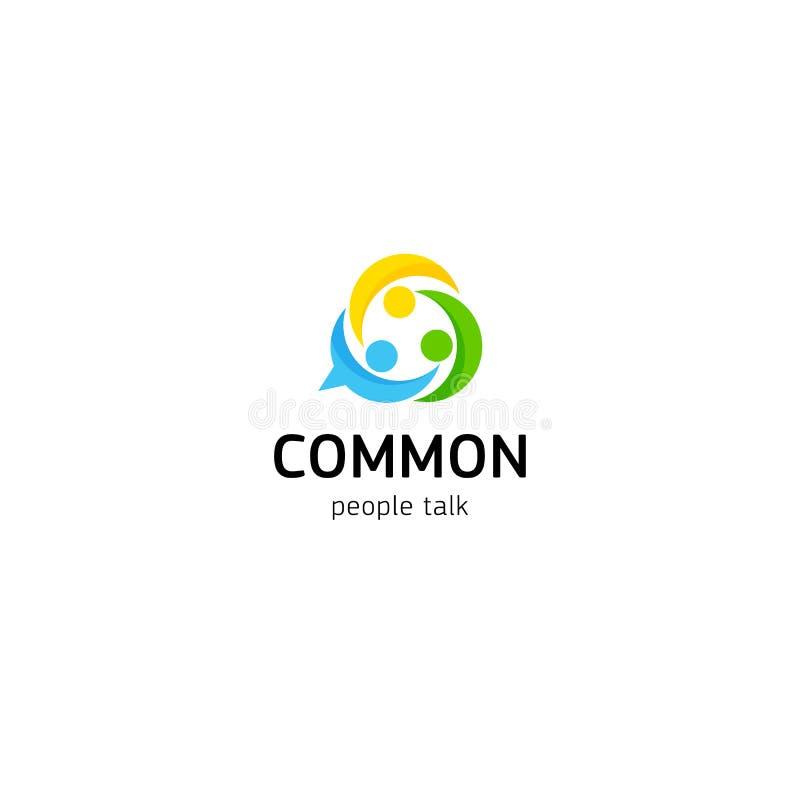 Del sindacato del collegamento di amicizia gente comune Il club unito della gente dagli interessi vector il logo illustrazione vettoriale