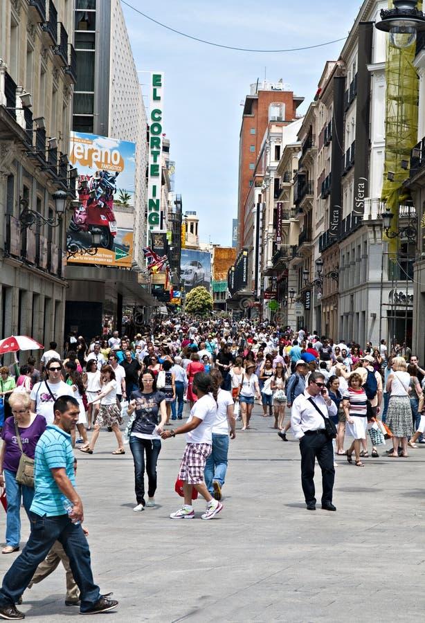 Del Sol, Madrid Spain stock image