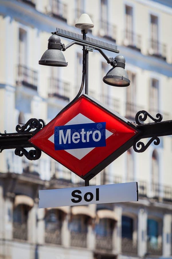 Del Sol Square, Madrid de Puerta de connexion de métro image stock