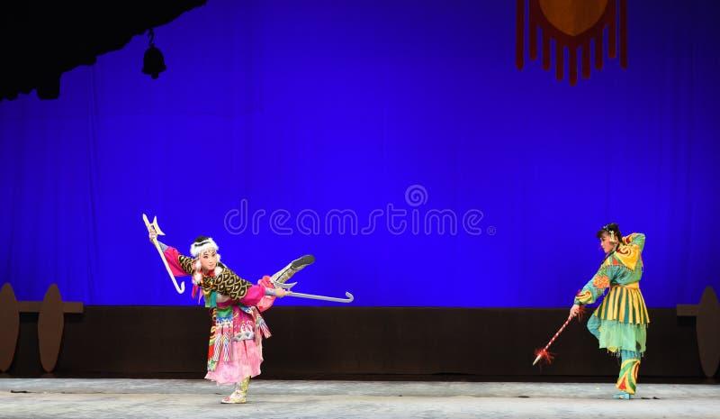 """ del teenager†di Pechino Opera""""Yue dei contro-bambini di lotta fotografia stock libera da diritti"""