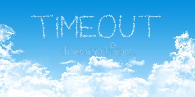Del tiempo ejemplo conceptual hacia fuera con las nubes en el cielo azul stock de ilustración