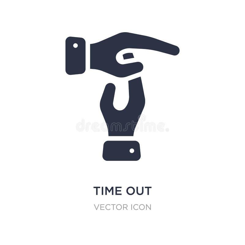 del tiempo icono hacia fuera en el fondo blanco Ejemplo simple del elemento del concepto del negocio y de las finanzas libre illustration