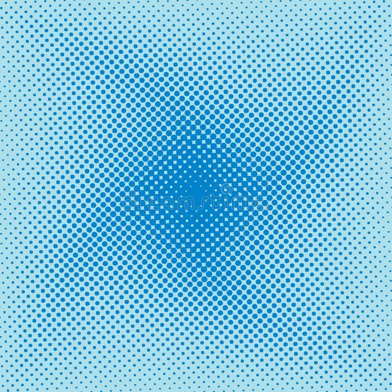 Del tono medio onda azul moderna swirly ilustración del vector