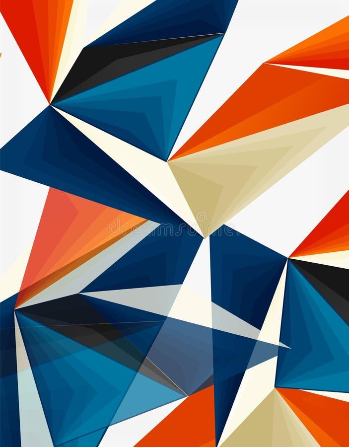 del triángulo 3d vector geométrico abstracto polivinílico moderno bajo ilustración del vector