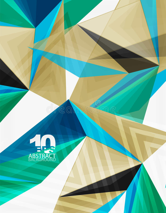 del triángulo 3d vector geométrico abstracto polivinílico moderno bajo libre illustration
