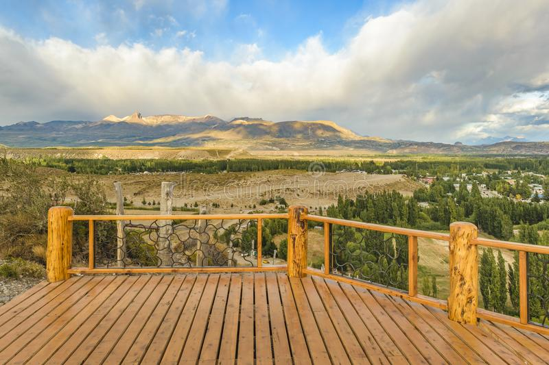 Del Valle Viewpoint, Los Antiguos, Argentina stock photography