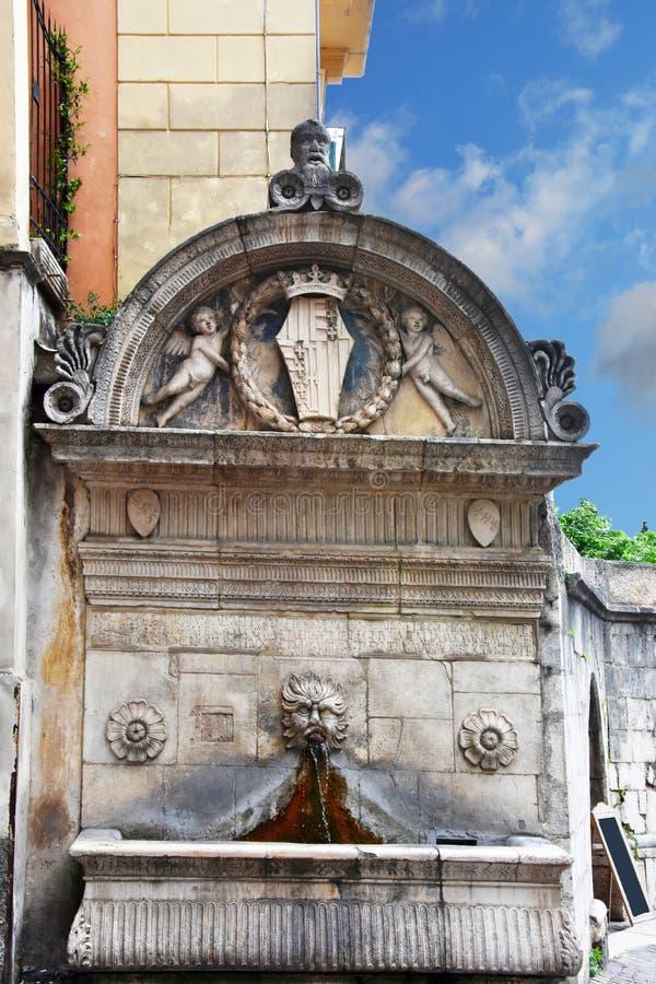 Del Veccio fontanna w Sulmona, Włochy zdjęcia stock