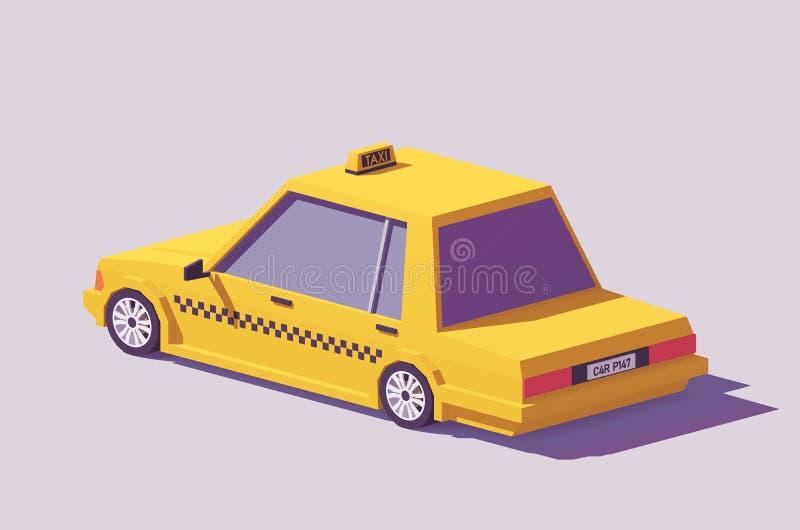 Del vector coche amarillo polivinílico del taxi bajo ilustración del vector