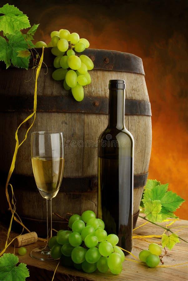 Del vino vita ancora in cantina fotografia stock